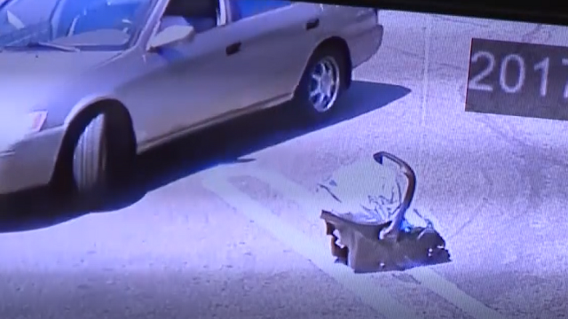 CAUGHT ON CAM: Baby abandoned in parking lot