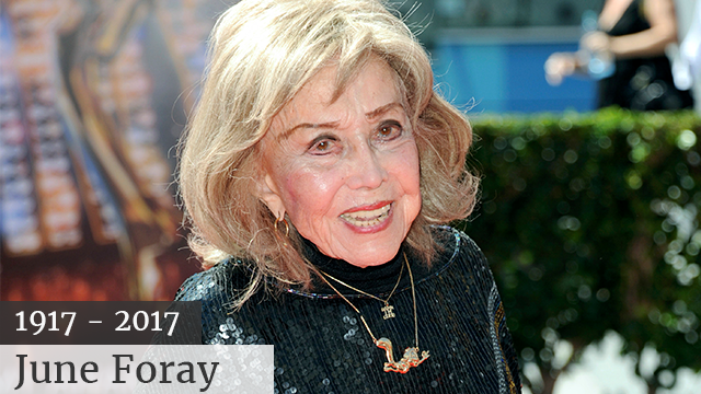 (Photo by Richard Shotwell/Invision/AP, File) June Foray died at Wednesday in a Los Angeles hospital of cardiac arrest. She was 99.