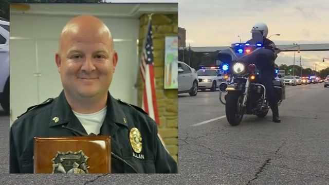 Lt. Aaron Allan of the Southport Police Department was responding to a call about a crash with people trapped inside a vehicle Thursday afternoon when he was shot. (Source: WISH via CNN)