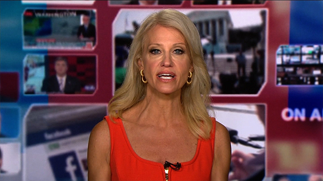 """Counselor to President Donald Trump Kellyanne Conway appears on CNN's """"Reliable Sources"""" with anchor Brian Stelter on Sunday, July 23, 2017."""