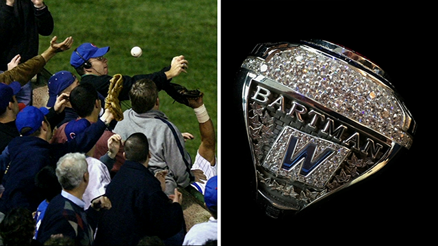 Chicago Cubs Give Steve Bartman a World Series Championship Ring