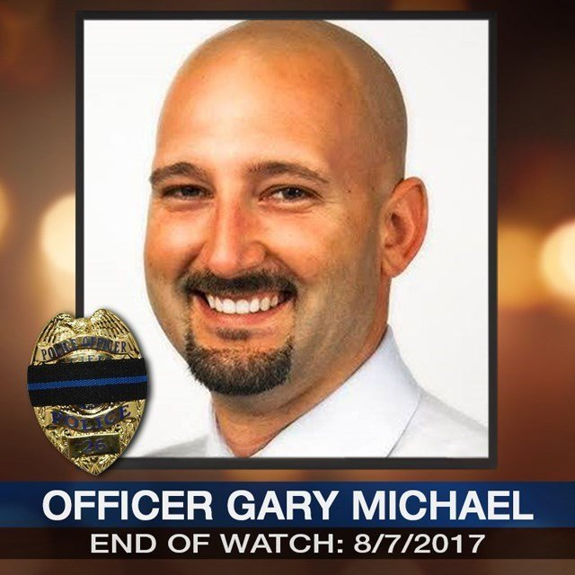 Gary Michael, who had been on the force less than a year, was the first police officer killed in the line of duty in Clinton, a town of about 9,000 people about 75 miles southeast of Kansas City. (Clinton Police Department)