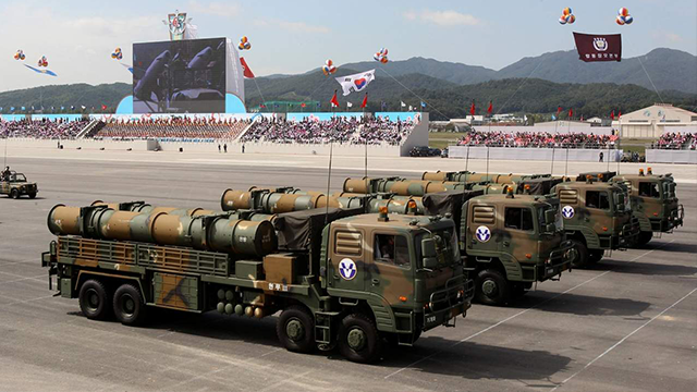(AP File Photo)  South Korea displayed its longest-range missile capable of striking all of North Korea and other sophisticated weapons at a massive military parade, a display of force meant to show Pyongyang that any provocation would be met...