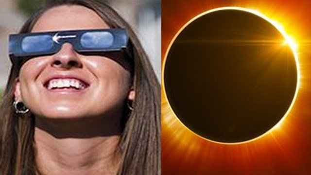 (Pat Sutphin/The Times-News via AP). Amazon says it is taking action against potentially counterfeit solar eclipse glasses.
