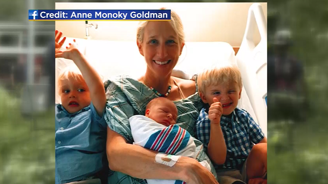 A mother of three was badly injured while shielding her young sons from a massive tree that fell in New York's Central Park. (Family Photo via WBCS/CNN)