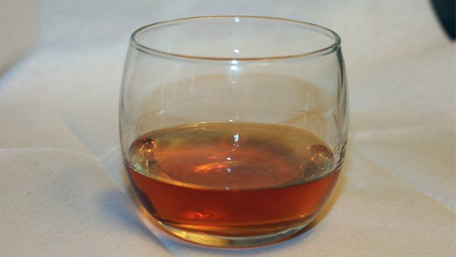 A glass of bourbon whiskey is seen here. (CNN File Photo)