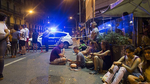 Several were killed and dozens were injured after a van rammed through crowds of people in the heart of Barcelona on Thursday, Aug. 17, 2017. (Javier Luengo)
