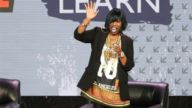 Missy Elliott arrives at a panel discussion during South By Southwest at the Austin Convention Center on Wednesday, March 16, 2016, in Austin, Texas. (Photo by Rich Fury/Invision/AP)