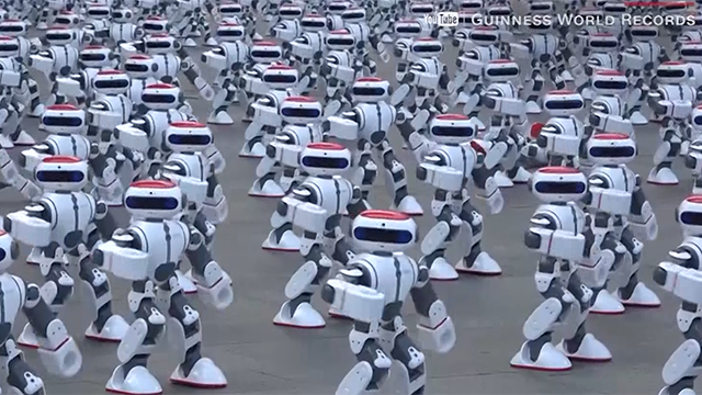 Delightful dancing robots boogie their way to world record