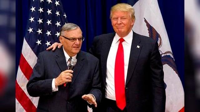 (Source: KTVK) Joe Arpaio and President Donald Trump