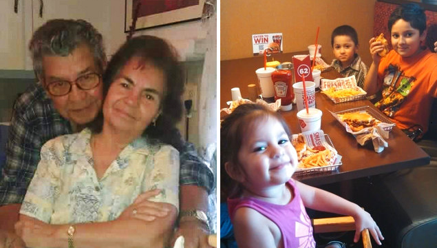 Virginia Saldivar says she presumes six members of a family, including four of her grandchildren, have died after their van was carried by a strong current into the bayou and sank. (Virginia Saldivar, Handout)