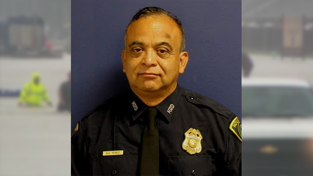 (Source: CNN) Veteran Houston police officer Sgt. Steve Perez ied when he drove his vehicle into floodwater covering the Hardy Toll Way, Houston Police chief Art Acevedo said on August 29, 2017.