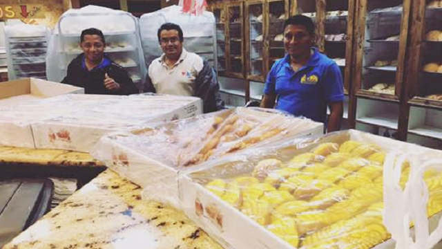 These bakers found themselves trapped by rising waters when Harvey pummeled Houston -- but instead of waiting around, they did what they do best. (Source: El Bolillo Bakery)