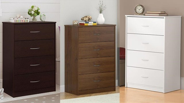 Ameriwood Mainstays chest of drawers recalled for tip=over risk. (CPSC)
