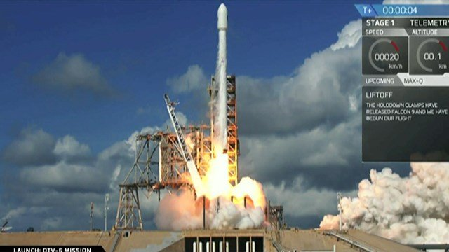 SpaceX launched the Air Force's super-secret space shuttle on Thursday, a technology tester capable of spending years in orbit. (SpaceX)