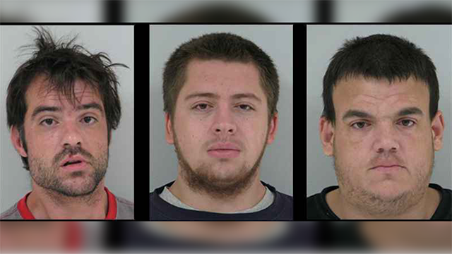 (Source: Alexandria Police Department) Thomas Barker (left), Steven Powers (middle) and Joshua Holby (right)