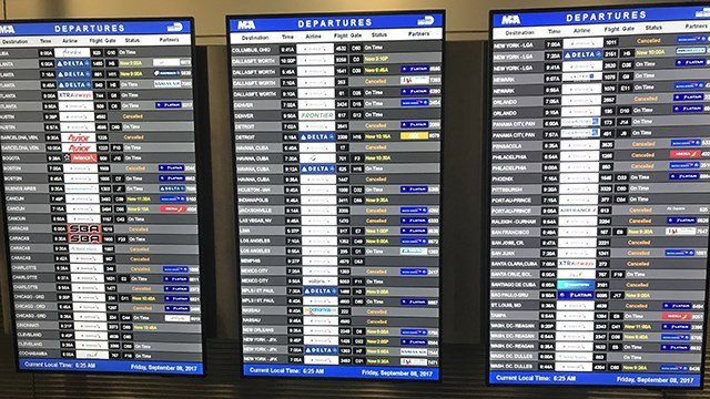 Hurricane Irma: Florida flight cancellations now near 7000, extend through Monday