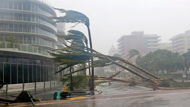 Hurricane Irma Floods Skyscrapers In Downtown Miami