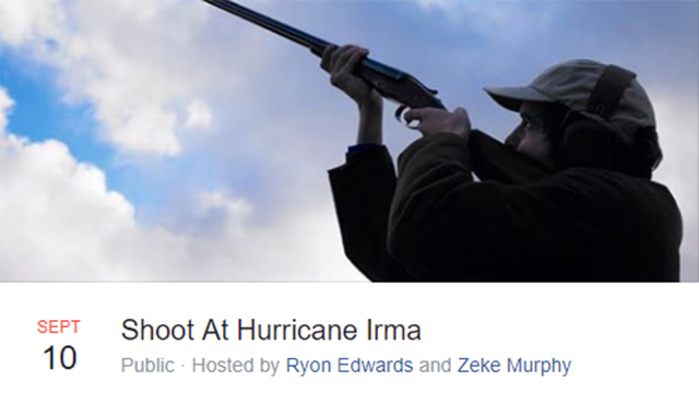 Please Do Not Fire Your Guns At Hurricane Irma