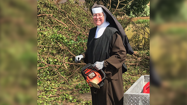 (Source: CNN) Sister Margaret Ann knew of a chainsaw in her school's closet, so she thought nothing of ripping into a downed tree blocking a road.