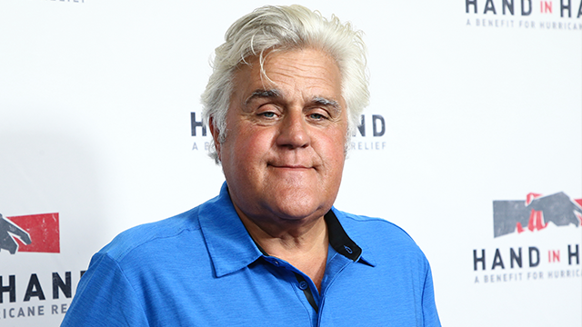 Jay Leno attends the Hand in Hand: A Benefit for Hurricane Harvey Relief held at Universal Studios Back Lot on Tuesday, Sept. 12, 2017 in Los Angeles. (Photo by John Salangsang/Invision/AP)