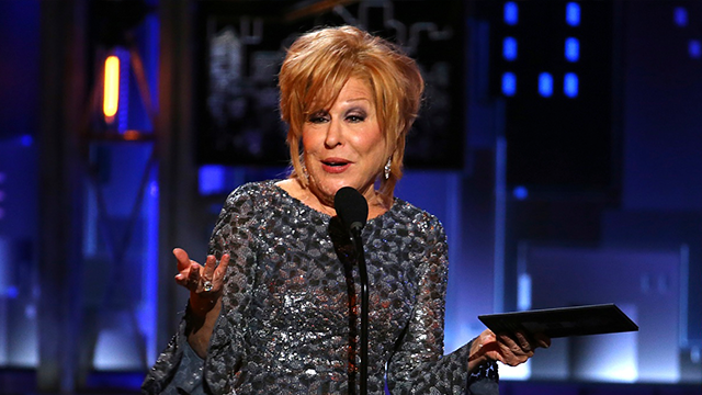 Actress Bette Midler alright after fall on stage