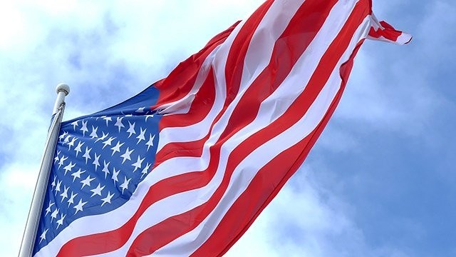The American flag waves in the wind. (Pixabay)
