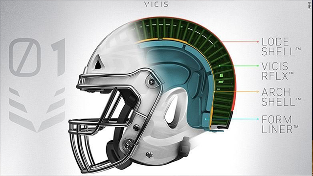 (Source: CNN) A cross section of the VICIS helmet.
