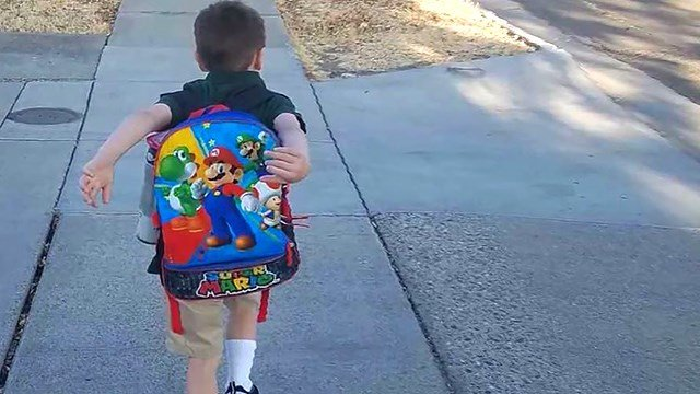 A 5-year-old California boy was suspended after he told a teacher he had a bomb in his backpack, according to school officials. (KTXL via CNN)