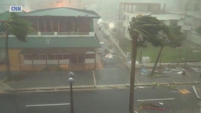 Maria's winds rip Puerto Rico