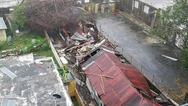 Roofs ripped off houses in San Juan, Puerto Rico as Hurricane Maria slammed into the city on September 20, 2017. (Fred Rasmussen/CNN)