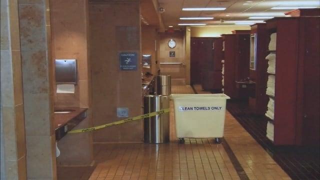 Woman found dead in gym bathroom