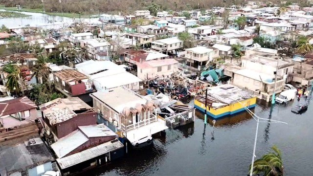 This photo shows the devastation caused by Hurricane Maria in San Juan, Puerto Rico.