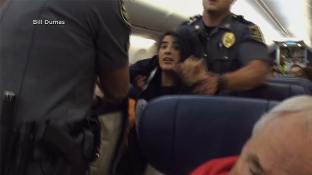 'Deathly allergic': Woman dragged off Southwest flight over dog dispute