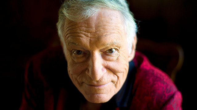 (AP Photo) Hugh Hefner at his home at the Playboy Mansion in Beverly Hills, Calif. Playboy magazine founder and sexual revolution symbol Hefner has died at age 91.