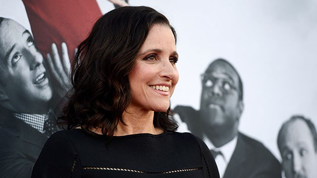 """Julia Louis-Dreyfus, a cast member in the HBO series """"Veep,"""" poses at an Emmy For Your Consideration event for the show at the Television Academy, on Thursday, May 25, 2017, in Los Angeles. (Photo by Chris Pizzello/Invision/AP)"""