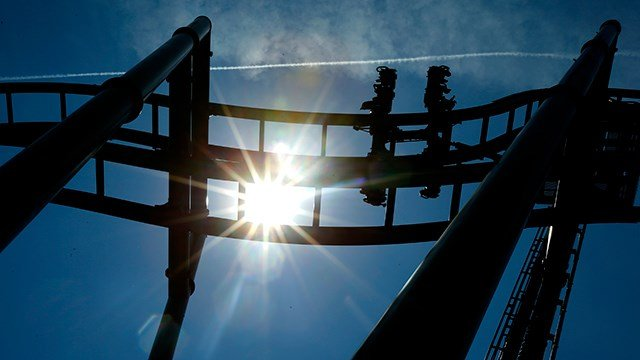 A ride at Six Flags Great Adventure in Jackson, N.J. (AP Photo/Julio Cortez)