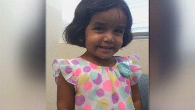 Police are searching for Sherin Mathews, 3, who is believed to be in grave or immediate danger. (Family Photo/Richardson Police Department)
