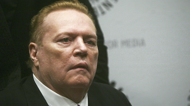 In this Oct. 26, 2007 file photo, Hustler magazine founder Larry Flynt arrives at the premiere of the documentary 'Larry Flynt: The Right to be Left Alone' at The Paley Center for Media in New York. (AP Photo/Gary He, File)