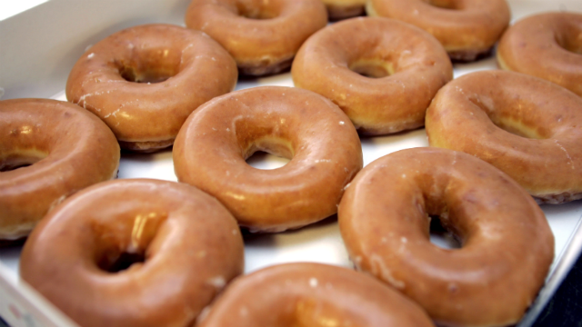 Krispy Kreme doughnuts are shown in Raleigh, N.C., Thursday, April 12, 2007. (AP Photo/Chuck Burton)