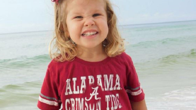 Sadie Andrews, 3, died after a tragic accident at an ice cream shop in Alabama. (YouCaring.com)
