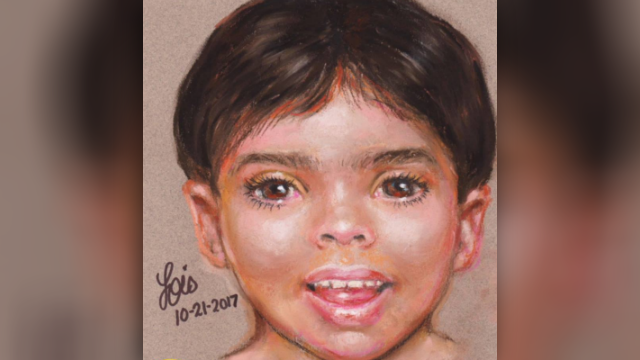 Galveston police commissioned a sketch artist and released a portrait of the boy Sunday. (Galveston Police Department)