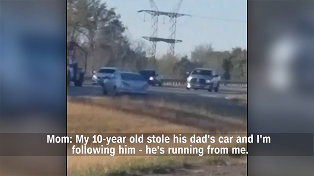 New dash cam video of 10-year-old leading police on chase