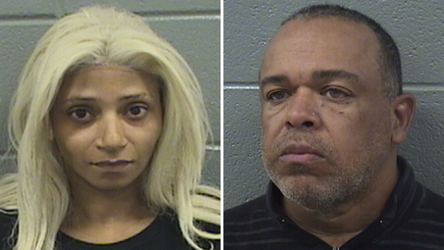 Charles Hopkins III, 59, and Miranda Y. Hicks, 38, face abuse and neglect charges after allegedly locking their disabled teenage daughter in a squalid bedroom for at least two years. (Cook County Sheriff's Office)