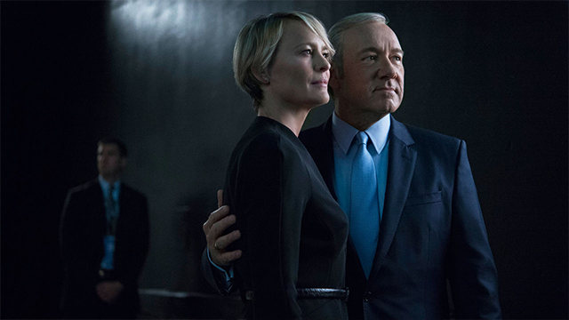 "Caption: Netflix's ""House of Cards,"" stars Kevin Spacey and Robin Wright."