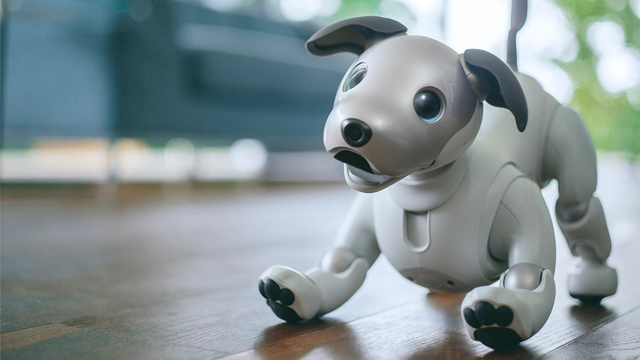 "Sony announced their newest creation, ""aibo,"" the entertainment robot dog that ""brings fun and joy to the entire family. (Photo Credit: Sony, CNN)"