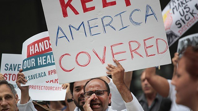 Far fewer Americans may be aware of enrollment because the advertising budget was cut by the Trump administration by 90% compared to last year. (Scott Olson/Getty Images)