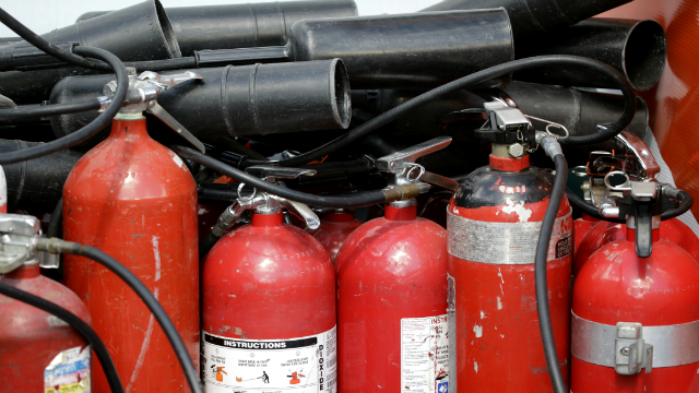 More than 37.8 million fire extinguishers are being recalled because they may fail to activate during a fire. (AP Photo/Wilfredo Lee)