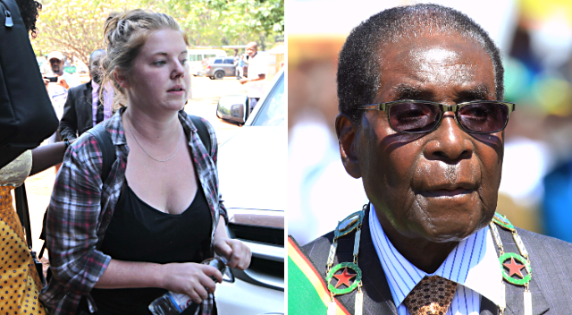 "Martha O'Donovan, 25, of New Jersey has been sent to prison in Zimbabwe after reportedly tweeting that President Robert Mugabe -- one of Africa's longest-serving leaders -- is ""a selfish and sick man,"" according to court documents. (AP Photo/Meredith)"