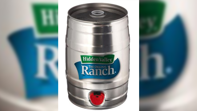 It's the holiday gift you didn't even know you wanted: a keg of ranch dressing. That's right. A literal keg. (Photo Credit: Flavour Gallery)